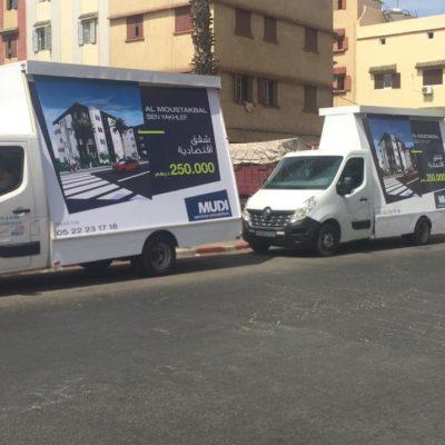 camion de publicité
